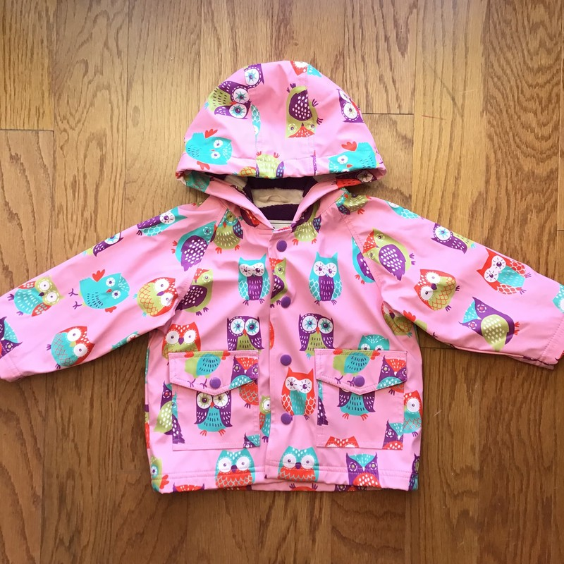 Hatley Rain Jacket, Pink, Size: 12m<br /> <br /> <br /> ALL ONLINE SALES ARE FINAL. NO RETURNS OR EXCHANGES.