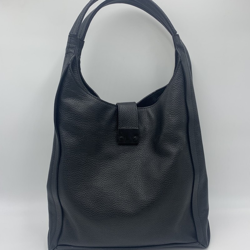 "Loeffler Randall Hobo, Black, Size: M<br /> <br /> condition: GOOD. Some wear on bottom edges<br /> <br /> 13""W x 14""H x 6""D<br /> 9"" Strap drop"