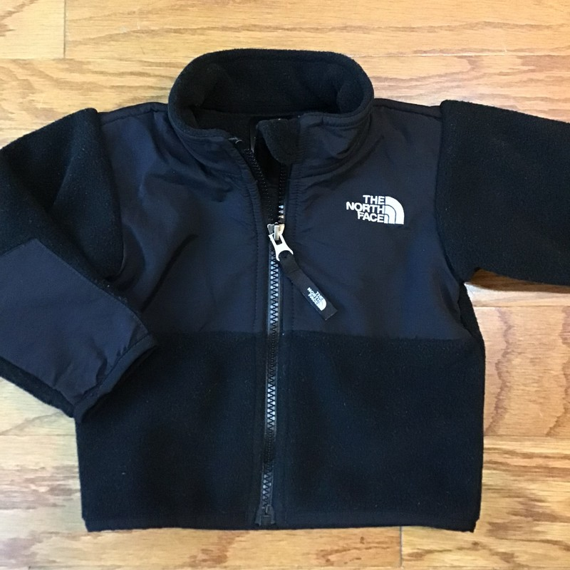 North Face Zip Up, Black, Size: 3-6m