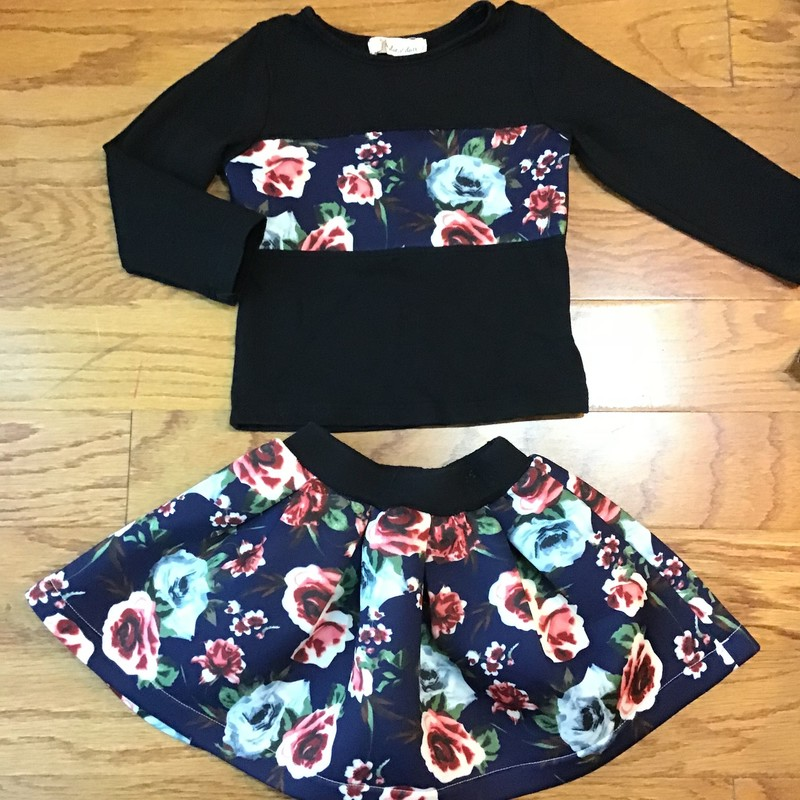 Doe A Dear 2pc Outfit, Black, Size: 2<br /> <br /> <br /> ALL ONLINE SALES ARE FINAL. NO RETURNS OR EXCHANGES.