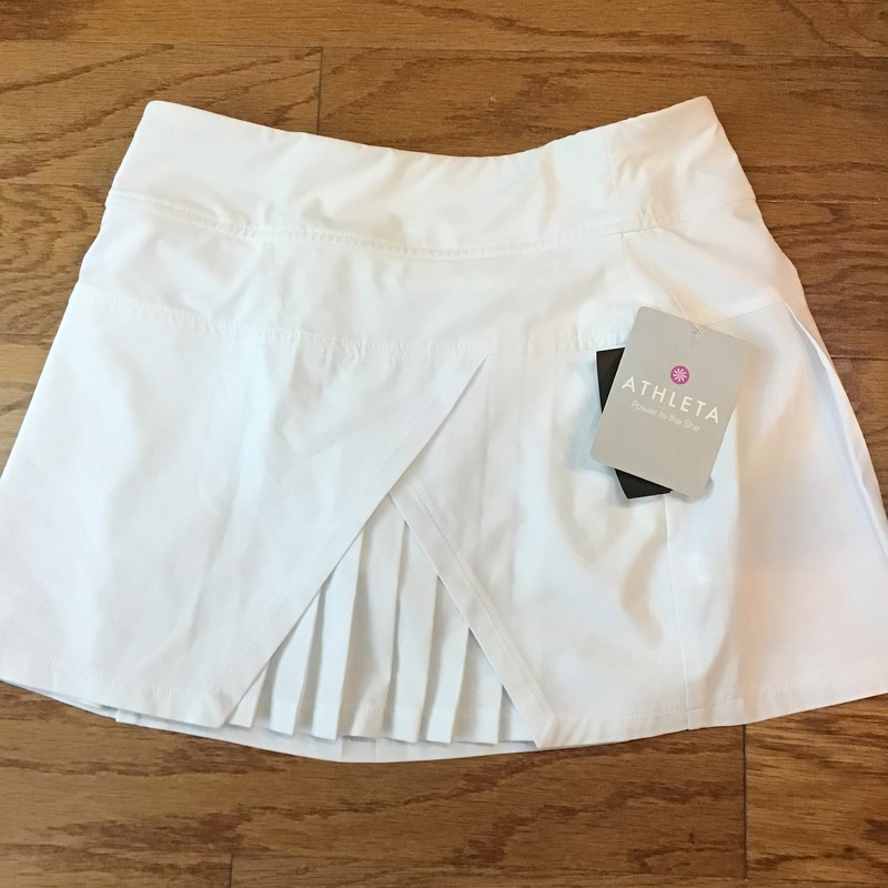 Athleta Girl Skort NEW, White, Size: Xxs<br /> <br /> <br /> BRAND NEW WITH $59 TAG<br /> <br /> <br /> ALL ONLINE SALES ARE FINAL. NO RETURNS OR EXCHANGES.