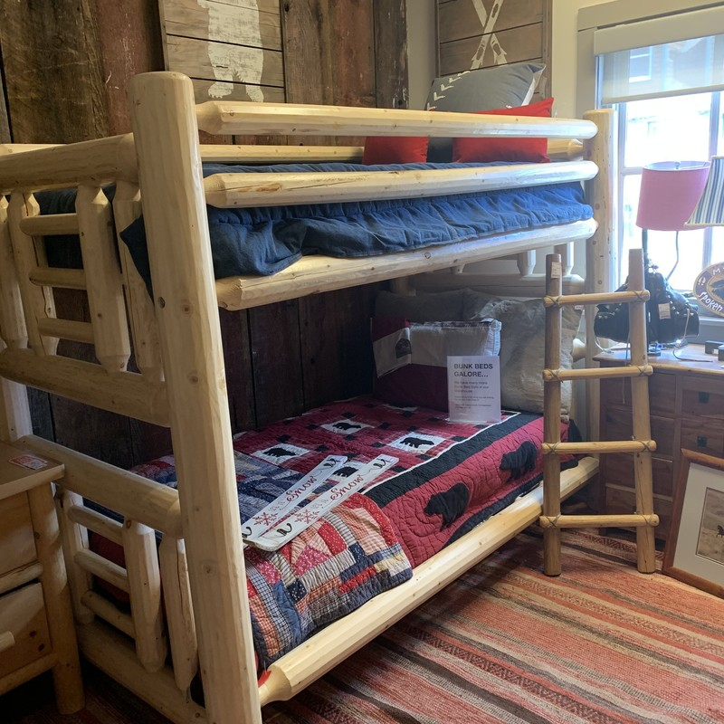 Awesome Lodge Pole Twin over Twin Bunk. Great Condition.