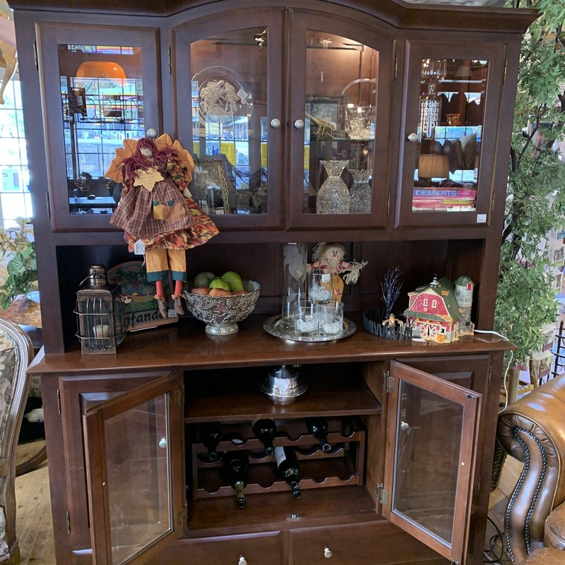 Hutch, Brown, Size: 60""