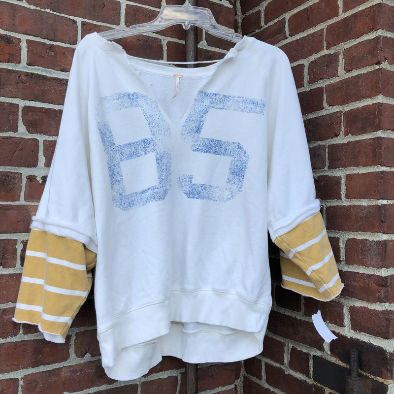 Free People Sweatshirt, Tan, Size: Medium
