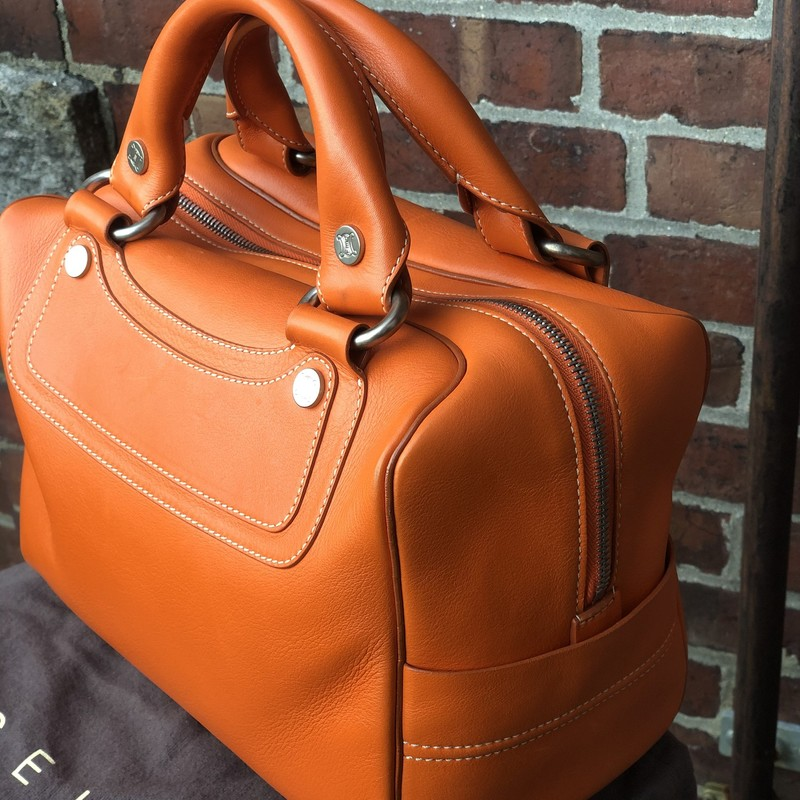 Leather Celine Boogie Ba, Orange, Size: Medium<br /> Excellent condition, includes dustbag!