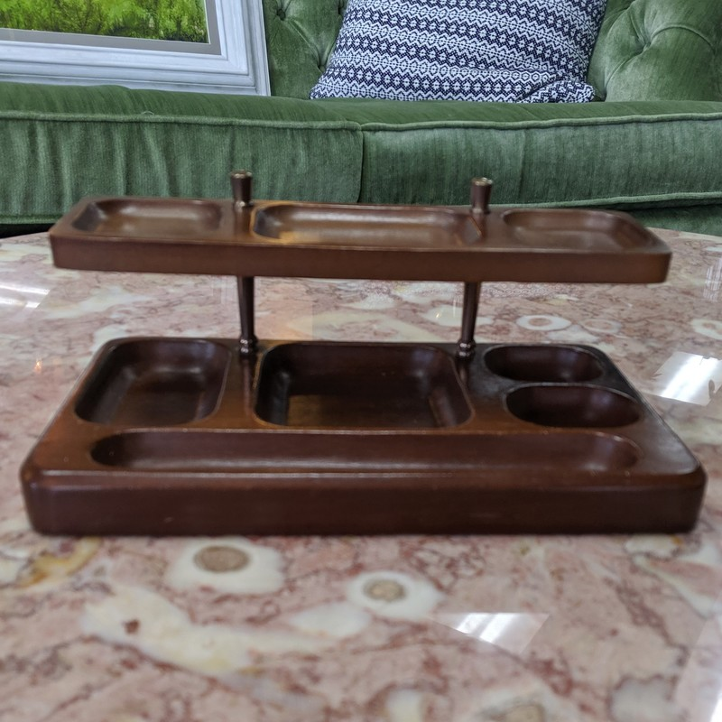 2-tier Desk Organizer<br /> Wooden<br /> Size: 10x6x4