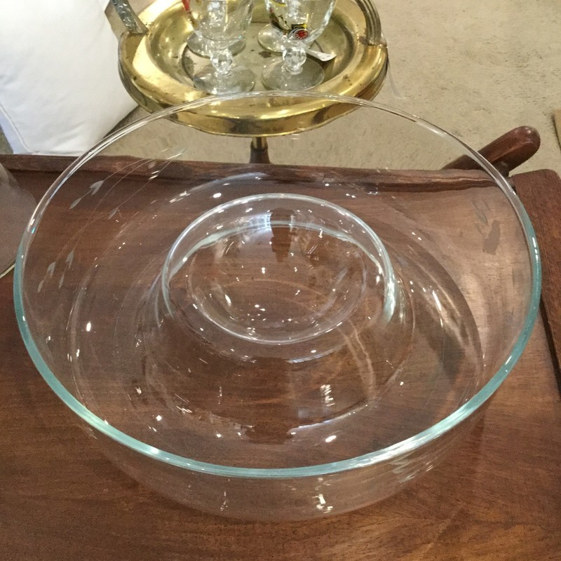 Glass Chip & Dip Bowl, Clear