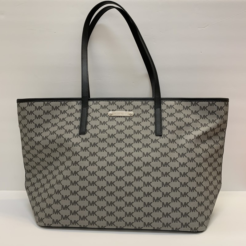 Michael Kors Tote Bag<br /> Signature<br /> Gray & Black