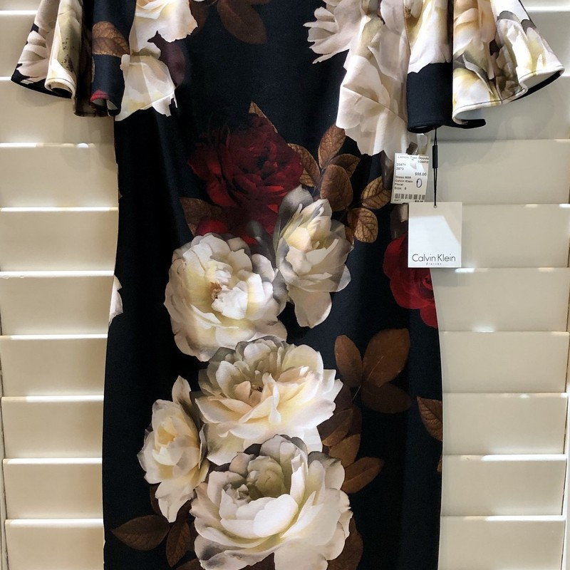 New with tags Calvin Klein dress. Sophisticated floral print.