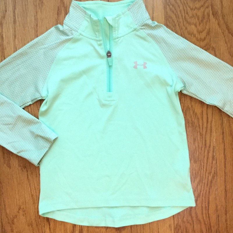 Under Armour Half Zip, Aqua, Size: 4<br /> <br /> <br /> ALL ONLINE SALES ARE FINAL. NO RETURNS OR EXCHANGES.