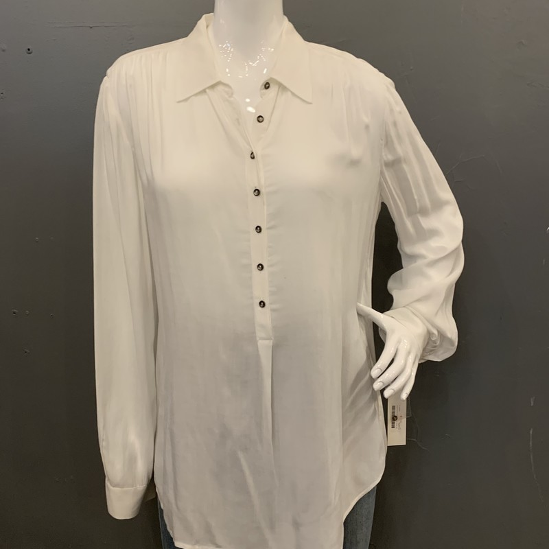 LAgence Popover, White, Size: 10<br /> <br /> 100% Rayon<br /> <br /> New WIth Tags<br /> Original Retail: $250