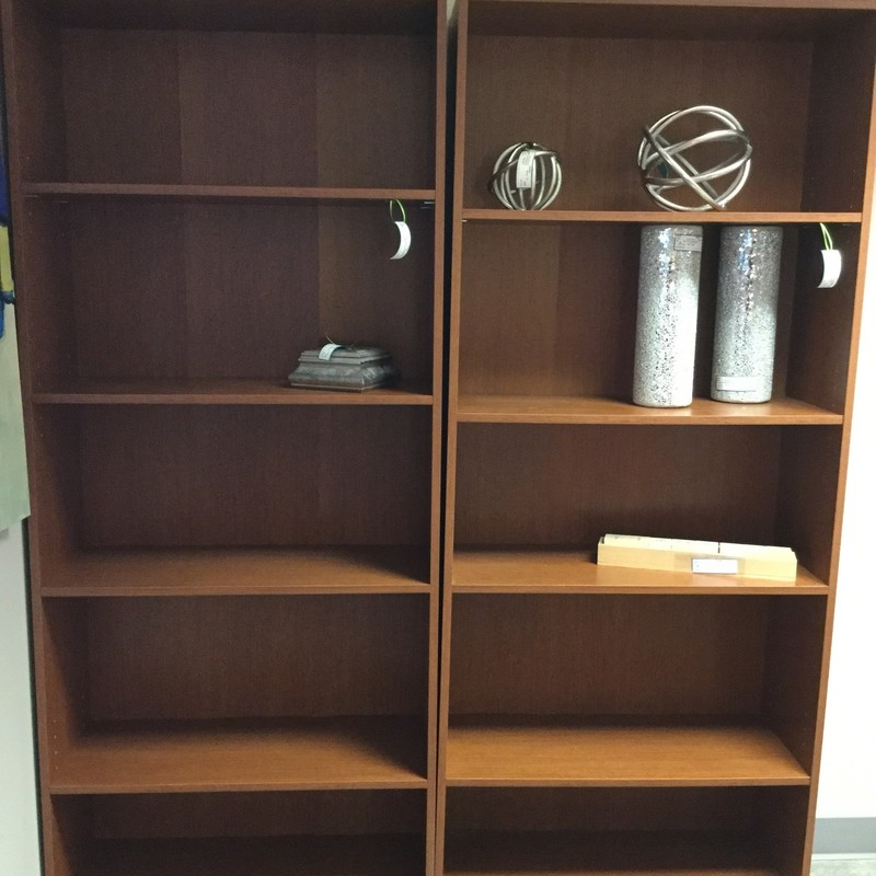 "Tall Laminate Bookcase, Dark Tone, 2 Available, Size: 30""X24""X30"""