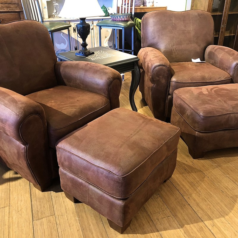Chair & Ottoman Ashley, Brown, 2pcs<br /> Additional Chair & Ottoman available: 78025