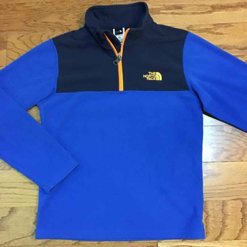 North Face Half Zip, Blue, Size: 10-12<br /> <br /> <br /> ALL ONLINE SALES ARE FINAL. NO RETURNS OR EXCHANGES.