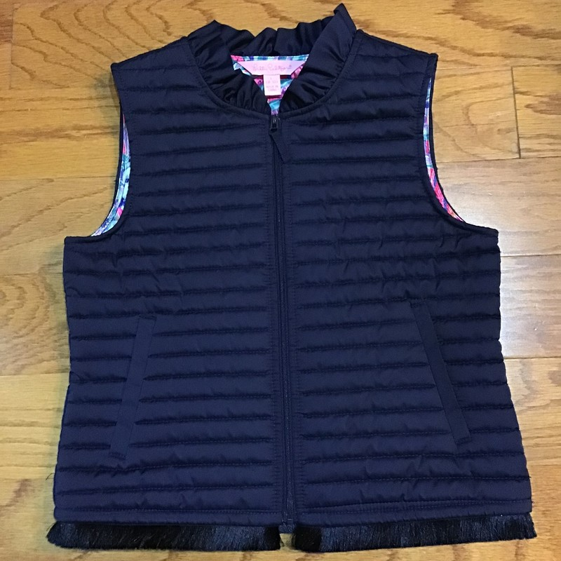 Lilly Pulitzer Vest, Navy, Size: 8-10<br /> <br /> <br /> ALL ONLINE SALES ARE FINAL. NO RETURNS OR EXCHANGES.