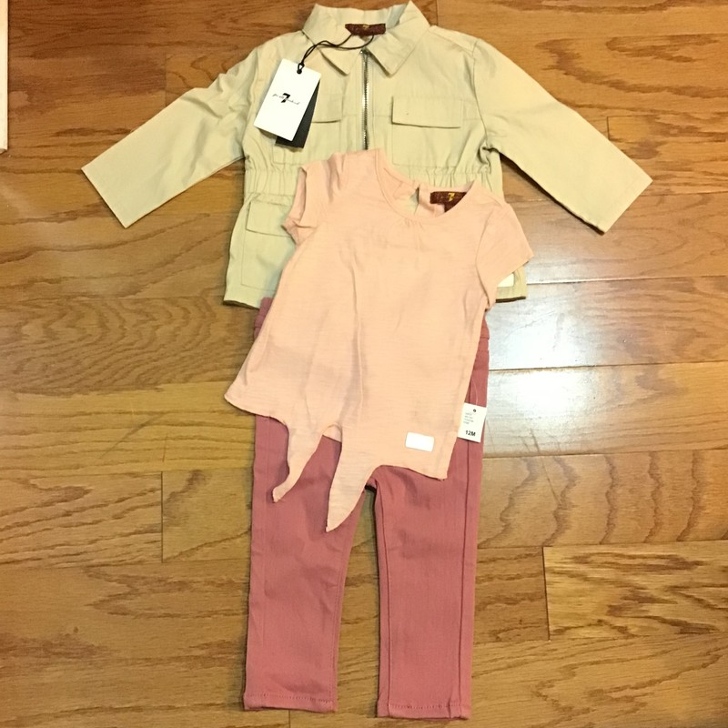7 For All Mankind 3pc NEW, Tan, Size: 12m<br /> <br /> <br /> BRAND NEW WITH $79 TAG<br /> <br /> <br /> ALL ONLINE SALES ARE FINAL. NO RETURNS OR EXCHANGES.