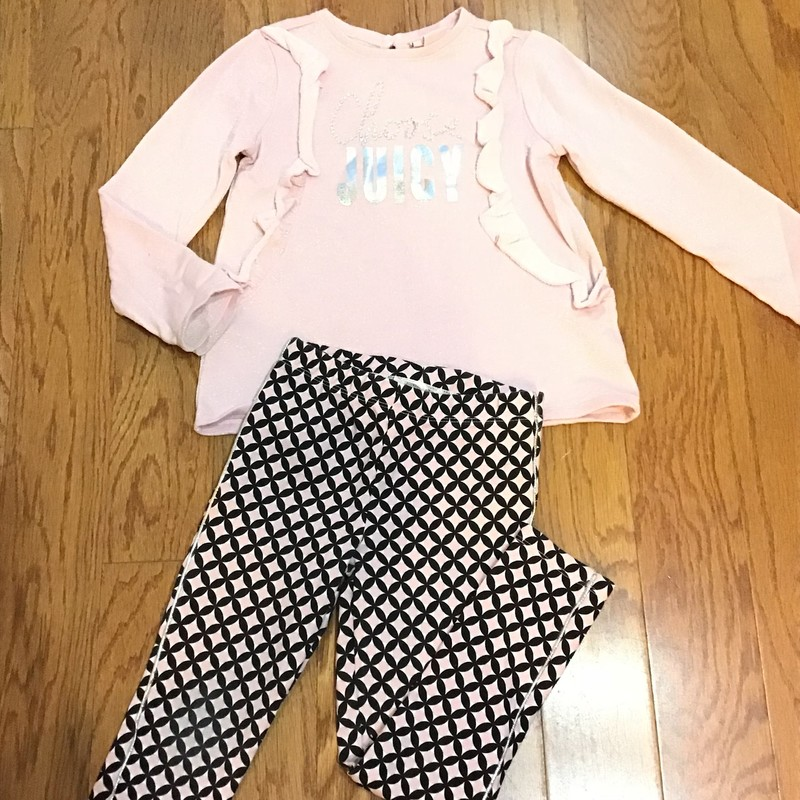 Juicy Couture 2pc Outfit, Pink, Size: 5<br /> <br /> <br /> ALL ONLINE SALES ARE FINAL. NO RETURNS OR EXCHANGES.