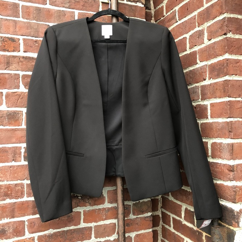 Halogen, Black,No buttons, faux pockets, simple and sleek. Size: M