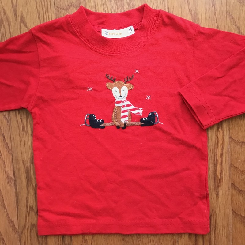 Baby Luigi Shirt, Red, Size: 12m<br /> <br /> <br /> ALL ONLINE SALES ARE FINAL. NO RETURNS OR EXCHANGES.