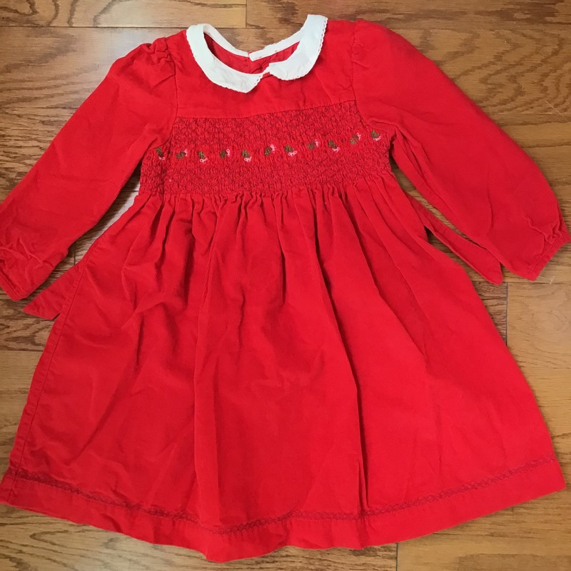 Jojo Maman Bebe Dress, Red, Size: 2-3<br /> <br /> <br /> <br /> ALL ONLINE SALES ARE FINAL. NO RETURNS OR EXCHANGES.