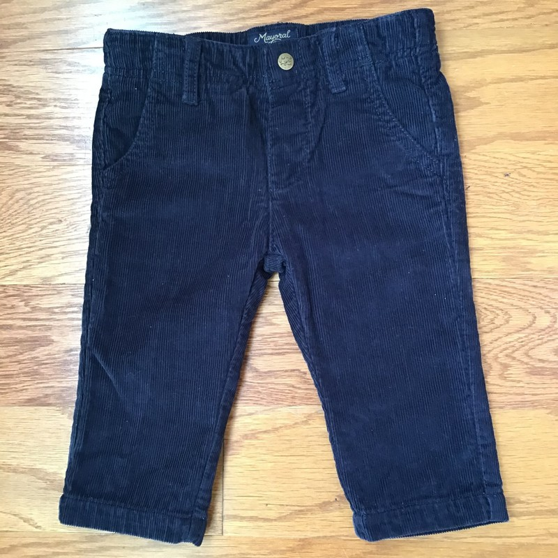 Mayoral Cord Pant, Navy, Size: 6m<br /> <br /> <br /> ALL ONLINE SALES ARE FINAL. NO RETURNS OR EXCHANGES.