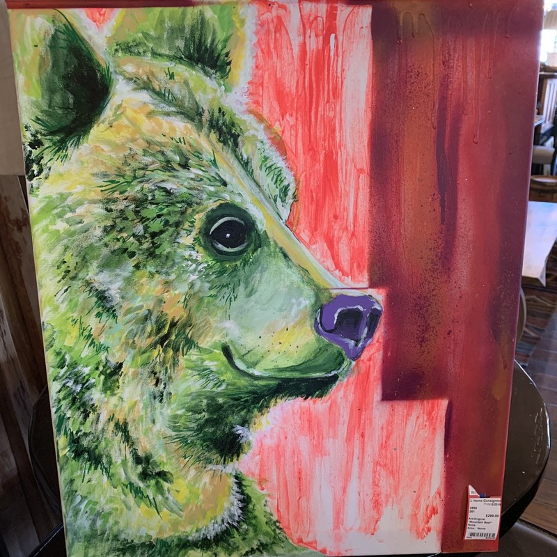 "Original Art by Local Artist, ""Mountain Bear"". By Patrick Cutting."