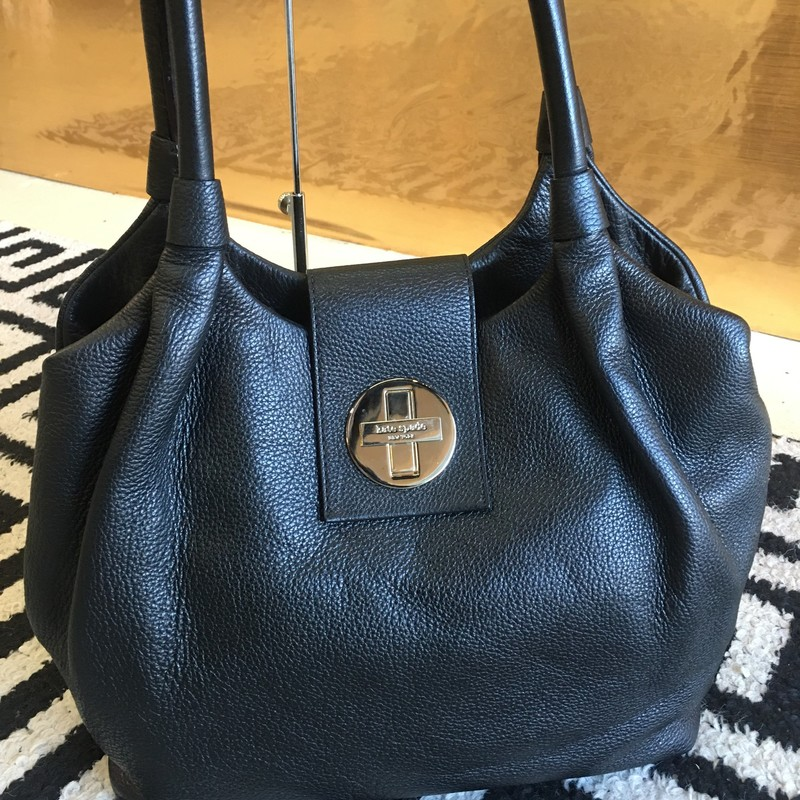 LIKE NEW Kate Spade twistlock hobo bag. Black leather with gold hardware. Plenty of space and interior pockets. No signs of use, no scuffs, tears, or staining. Looks and feels brand new! WON'T LAST! Retail: $375
