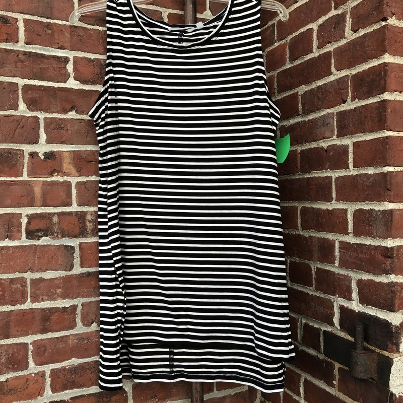 Athleta Tank, Stripe, Size: Large