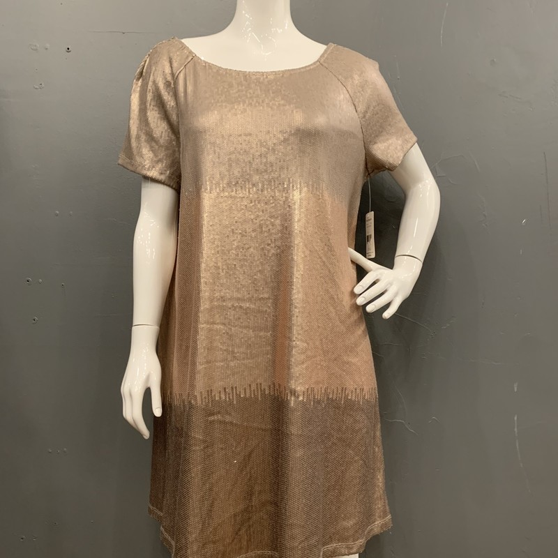 Free People Sequin Ombre, RoseGold, Size: L<br /> <br /> 62% Polyester, 35% Rayon, 3% Spandex<br /> <br /> New With Tags<br /> Original Retail: $168