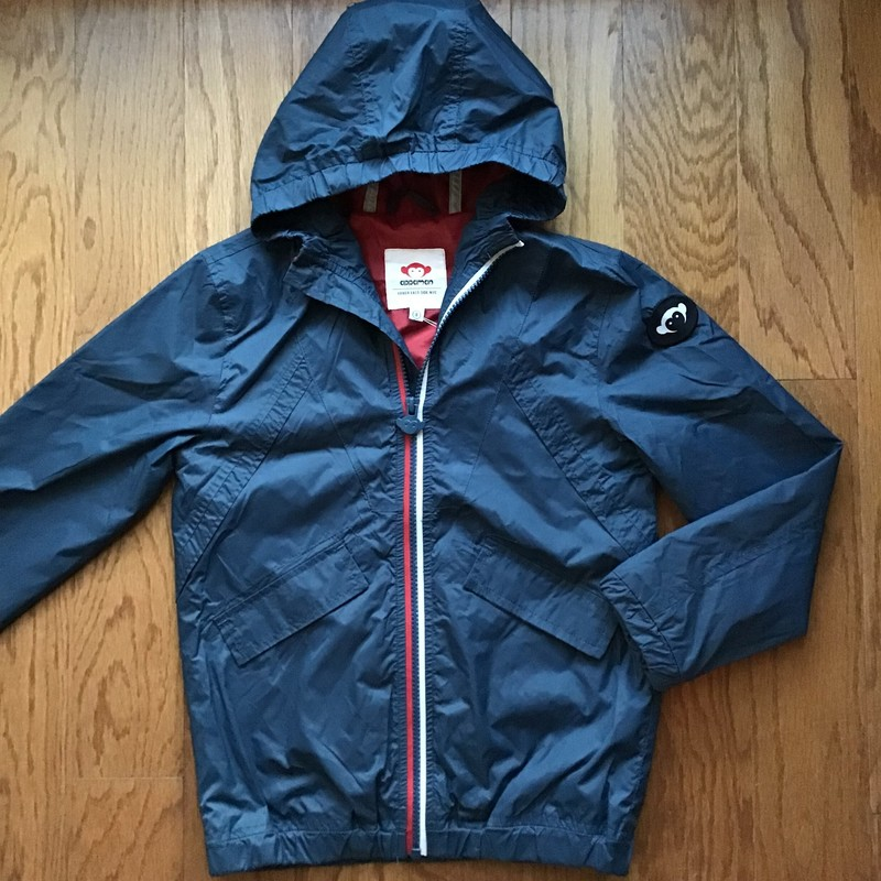 Appaman Rain Jacket, Navy, Size: 8<br /> <br /> <br /> ALL ONLINE SALES ARE FINAL. NO RETURNS OR EXCHANGES.
