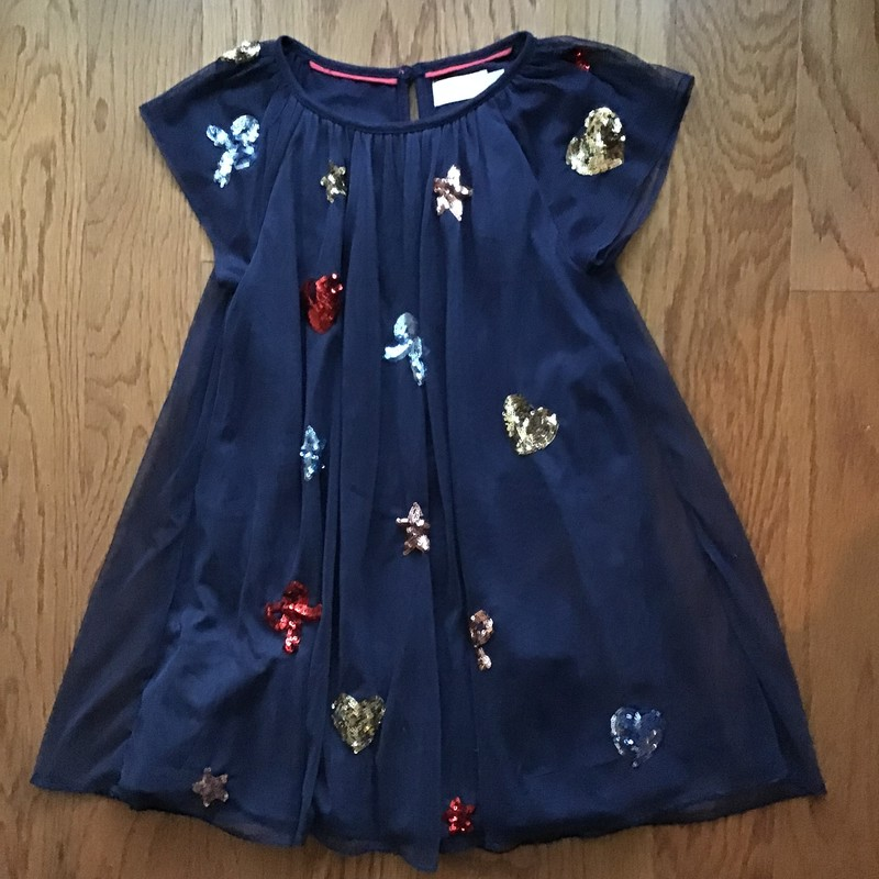 Mini Boden Dress, Navy, Size: 5-6<br /> <br /> <br /> ALL ONLINE SALES ARE FINAL. NO RETURNS OR EXCHANGES.