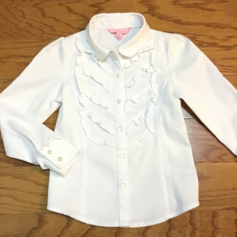 Eland Shirt, White, Size: 4<br /> <br /> <br /> ALL ONLINE SALES ARE FINAL. NO RETURNS OR EXCHANGES.