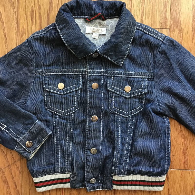 Gucci Denim Jacket, Denim, Size: 12-18m<br /> <br /> <br /> ALL ONLINE SALES ARE FINAL. NO RETURNS OR EXCHANGES.