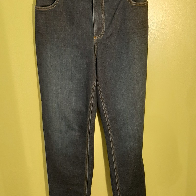 "Talbots ""Flawless 5-Pocket"" jean in dark wash. Size 16W with a slim ankle."