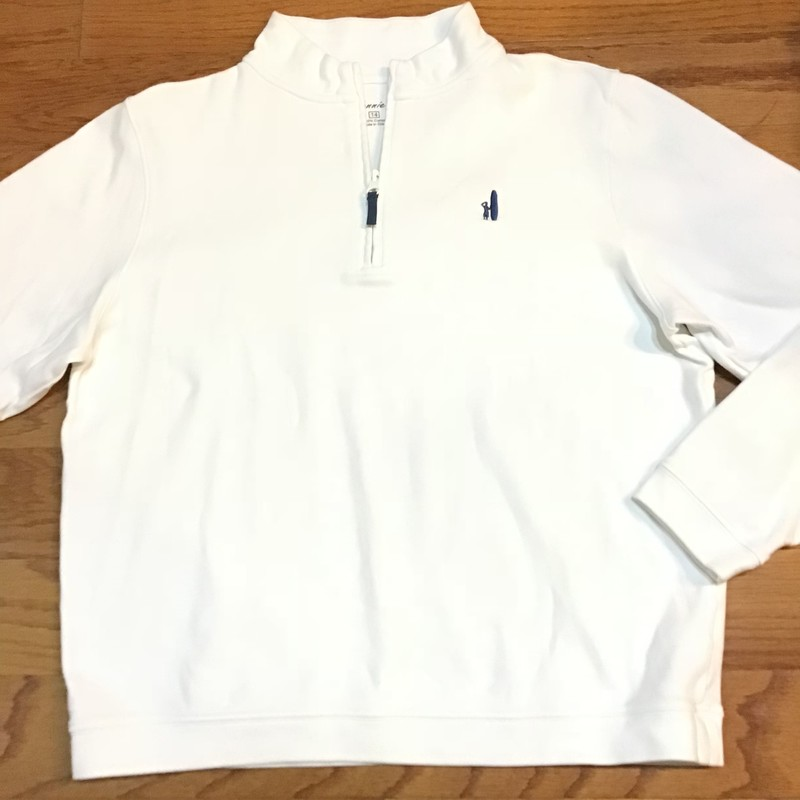 Johnnie O Half Zip, White, Size: 14<br /> <br /> <br /> ALL ONLINE SALES ARE FINAL. NO RETURNS OR EXCHANGES.