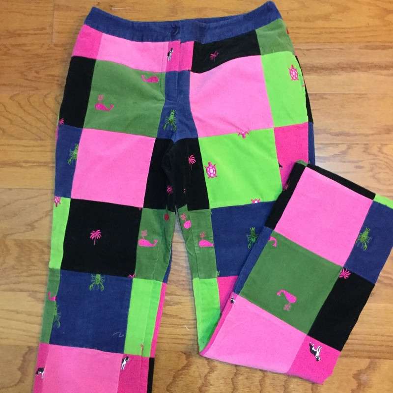 Lilly Pulitzer Cord Pant, Multi, Size: 2