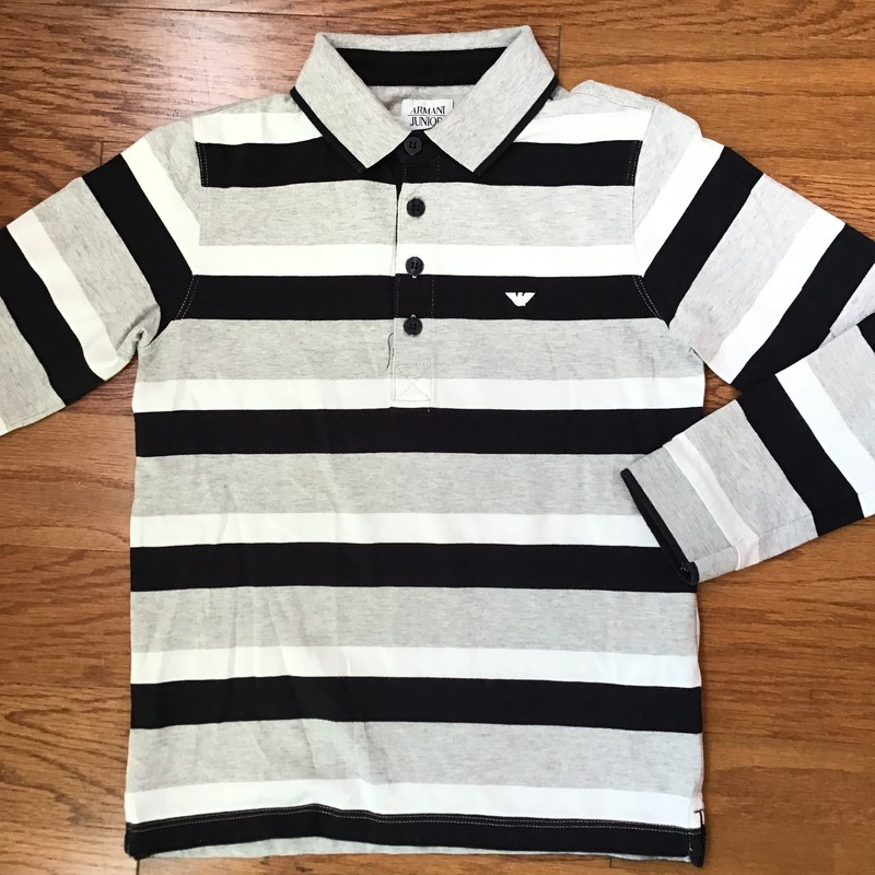 Armani Junior Shirt, Stripe, Size: 8<br /> <br /> <br /> ALL ONLINE SALES ARE FINAL. NO RETURNS OR EXCHANGES.