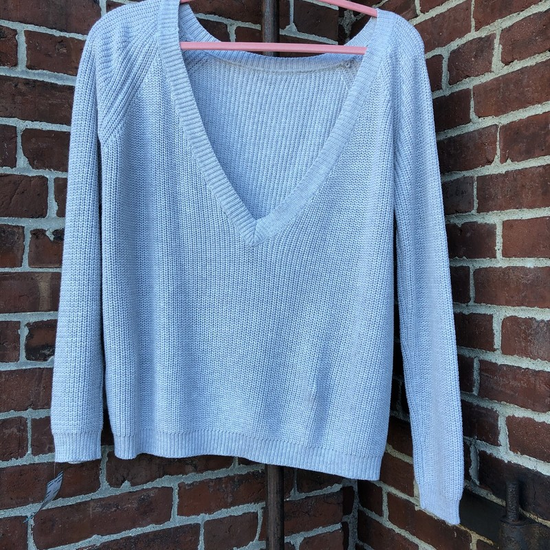Lulus Gray Sweater, Gtay, Size: Small