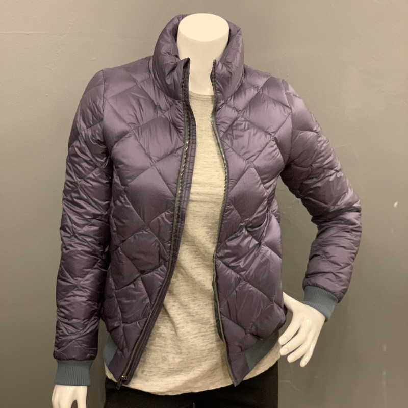 Patagonia Prow Bomber, Grey, Size: XS<br /> <br /> shell: 100% Nylon<br /> insulation: 75% minimum duckdown<br /> lining: 100% Polyester<br /> <br /> Original retail: $199<br /> New With Tags