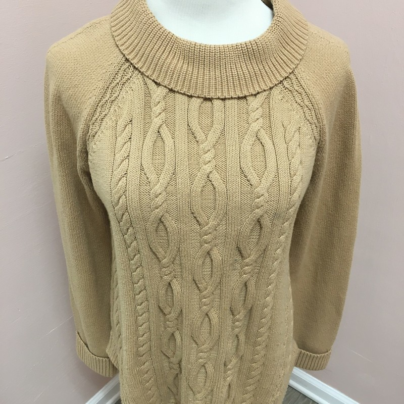 Talbots Sweater, Tan, Size: Large