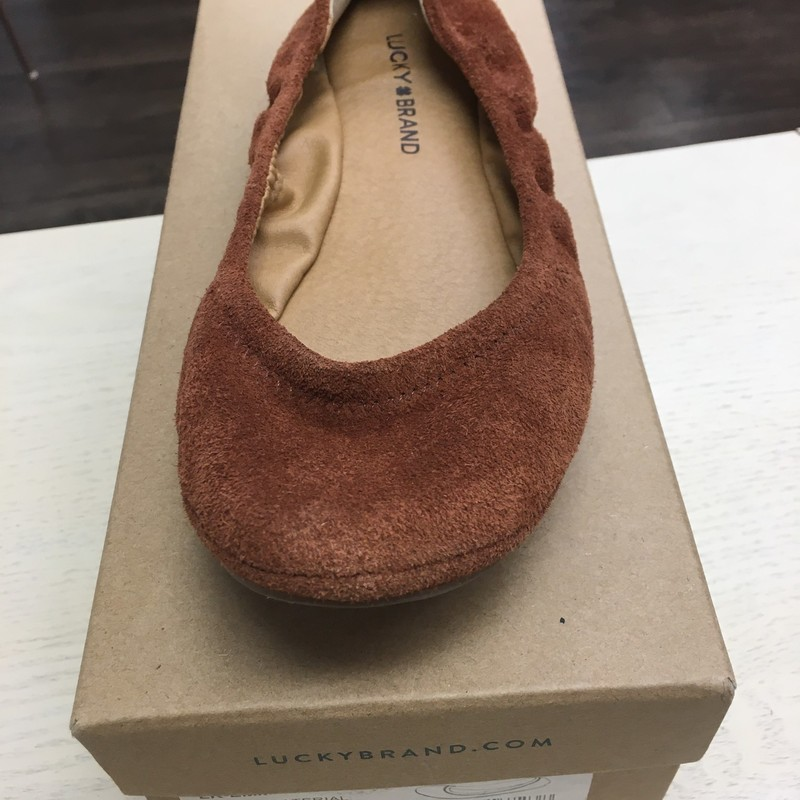 Lucky Brand Emmie Flats new with box , Rust, Size: 9