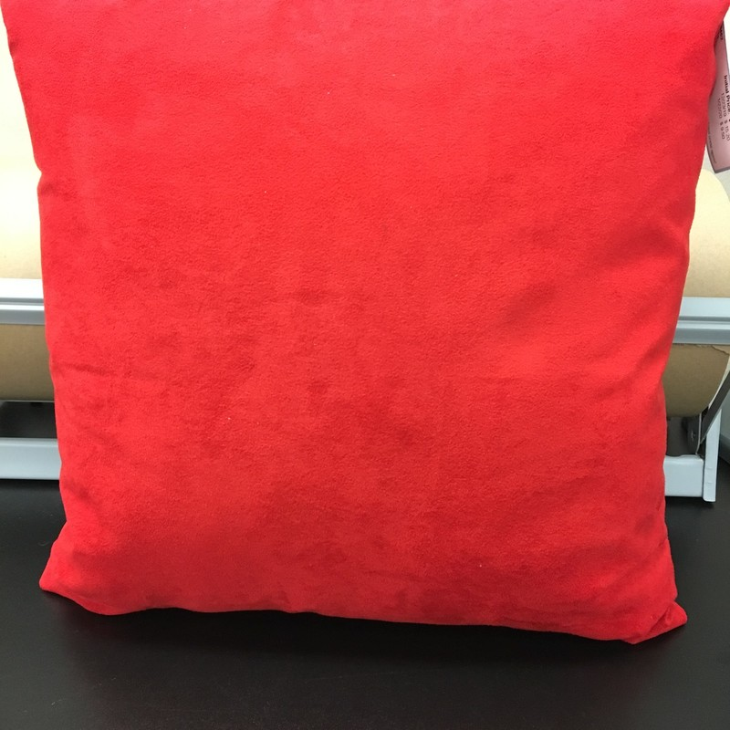 Microfiber Pillow, Red, Size: 17x17 In