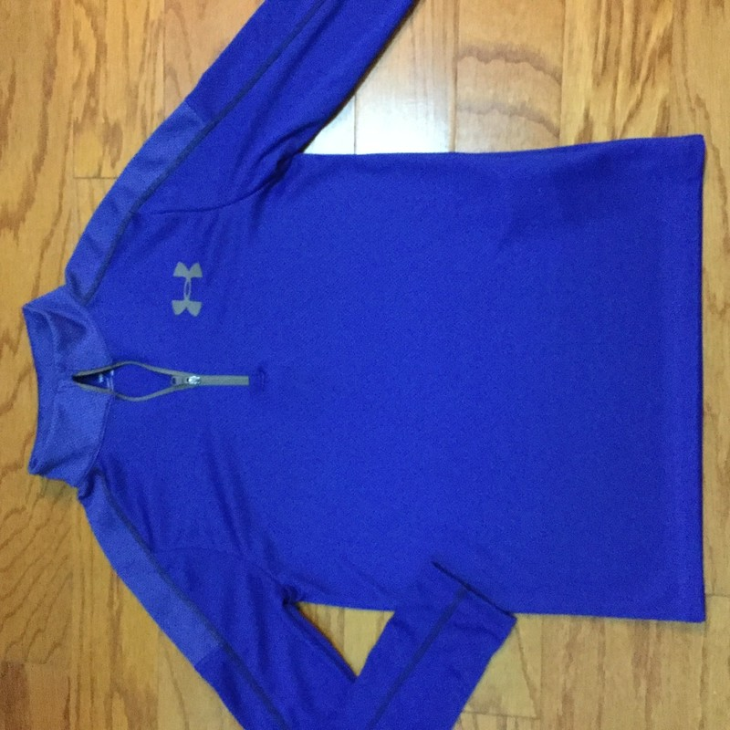 Under Armour Half Zip, Blue, Size: Medium<br /> <br /> <br /> ALL ONLINE SALES ARE FINAL. NO RETURNS OR EXCHANGES.