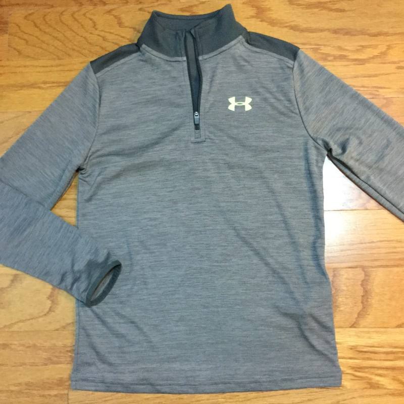 Under Armour Half Zip, Gray, Size: M<br /> <br /> <br /> ALL ONLINE SALES ARE FINAL. NO RETURNS OR EXCHANGES.