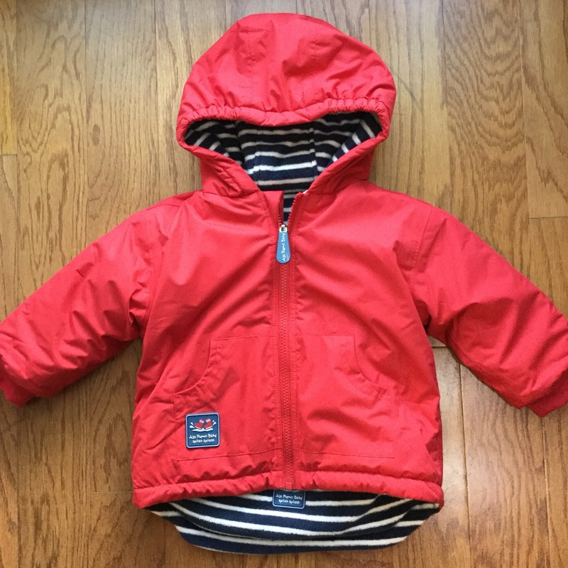 Jojo Maman Bebe Coat, Red, Size: 18-24m<br /> <br /> <br /> ALL ONLINE SALES ARE FINAL. NO RETURNS OR EXCHANGES.