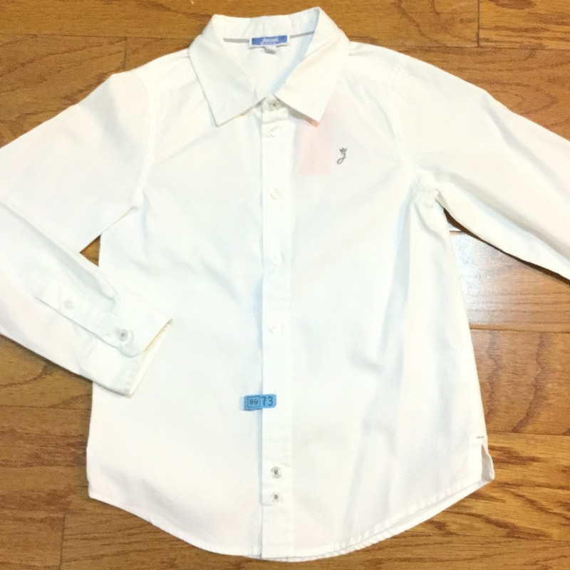 Jacadi Shirt, White, Size: 6<br /> <br /> <br /> ALL ONLINE SALES ARE FINAL. NO RETURNS OR EXCHANGES.