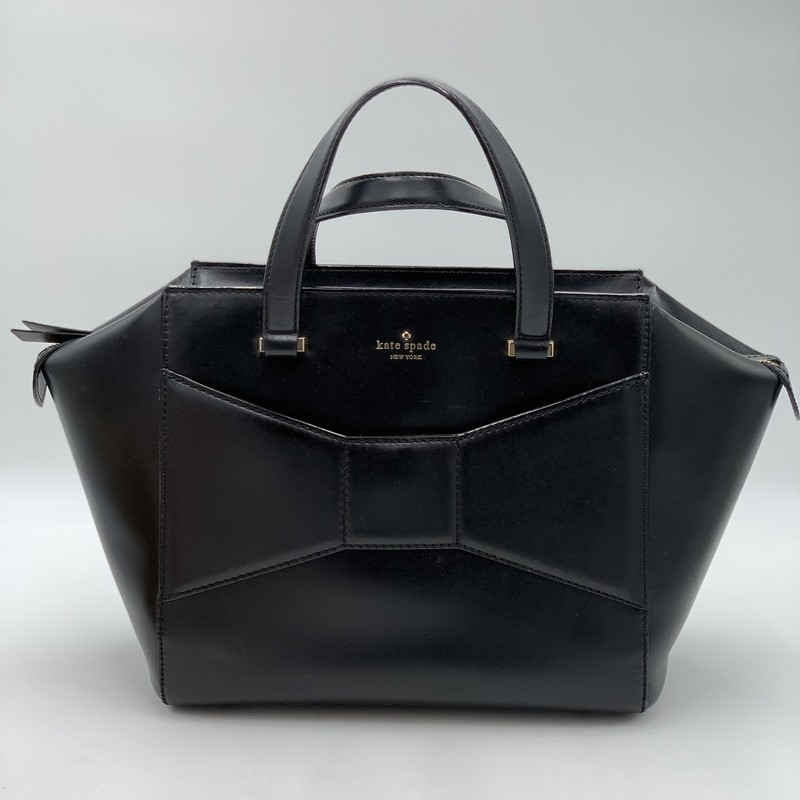 "Kate Spade '2 Park Ave Beau Satchel', Black<br /> <br /> Handle Drop: 5""<br /> Height: 9""<br /> Width: 14""<br /> Depth: 5""<br /> <br /> Condition: Good (A few hardly noticeable scratches)<br /> <br /> Estimated Original Retail: $398"