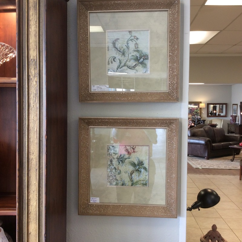 Beauty is in the eye of the beholder, and I think these are lovely! They were originally from Deck The Walls in The Woodlands, and have a price tage of $295 EACH on the backs! Stop by and see them for yourselves!