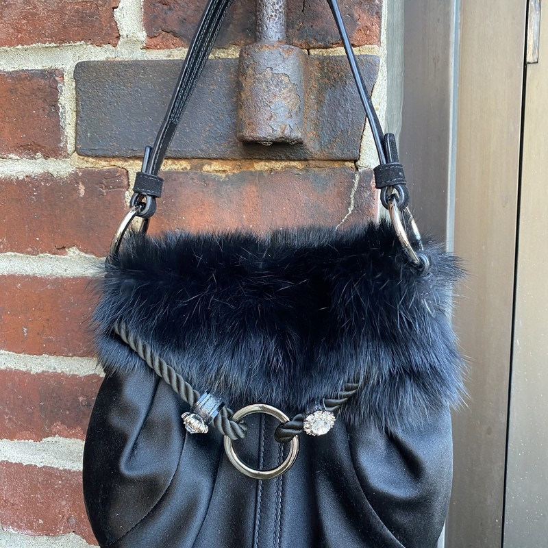 Coach With Mink Fur, Black, Size: Small