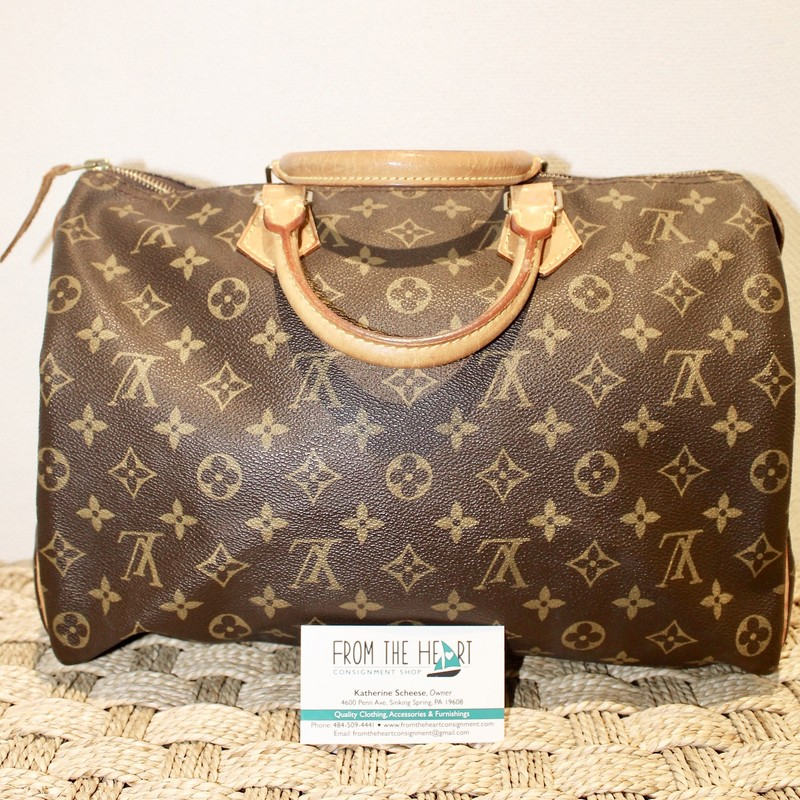Louis Vuitton Speedy, Mono, Size: 35, Certificate of Authenticity included